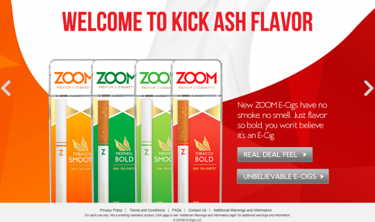 Zoom E-Cigs : Welcome to kick ash flavor!